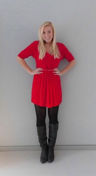 OOTD-rood-jurkje-zwarte-laarzen-red-dress-black-boots-1