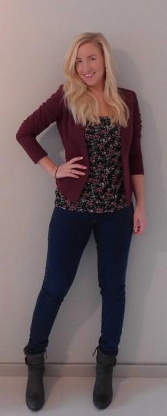 ootd-outfit-blazer-bordeaux-hema-shirt-flowers-bershka-jeans-mango-boots-stradivarius-casual-chic-2
