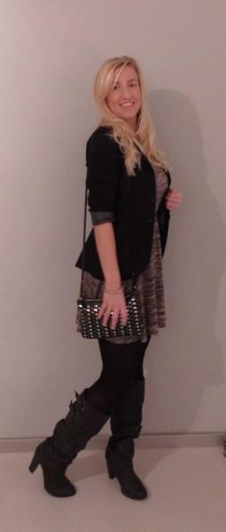outfit-jurkje-dress-primark-laarzen-heels-zara-leren-mouw-leather-sleeves-3