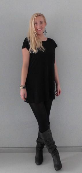 OOTD-outfit-girls-night-out-black-dress-zwart-jurkje-hoge-laarzen-zara-2