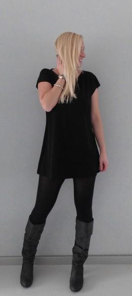 OOTD-outfit-girls-night-out-black-dress-zwart-jurkje-hoge-laarzen-zara-3