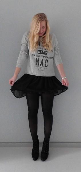 outfit-sweater-mango-dress-bershka-high-heels