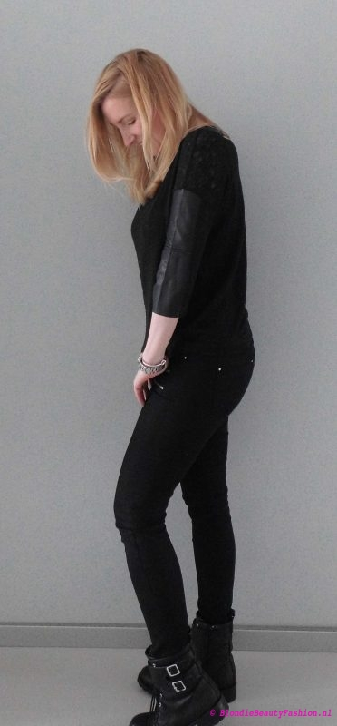 OOTD-outfit-of-the-day-boots-zwart-black-stoer-casual-stradivarius-forever21-look-style-3